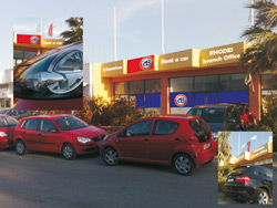 Alianthos Car Rental Office in Rhodes